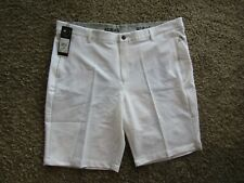 NWT Adidas Golf Polyester White Smooth Front Shorts Men's Size 40
