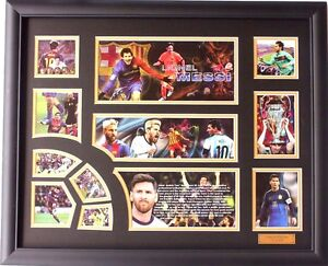 New Lionel Messi Signed FC Barcelona Limited Edition Memorabilia Framed