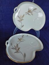Noritake 5693 SNACK PLATE (s) - multiples *have more items* Gold Leaves VINTAGE