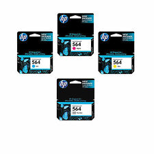 4 Pack Genuine HP 564 (Photo Set) ink Cartridges Black Photo Cyan Magenta Yellow