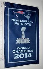 "Gillette Stadium 2014 New England Patriots 14"" Mini Banner Super Bowl XLIV"