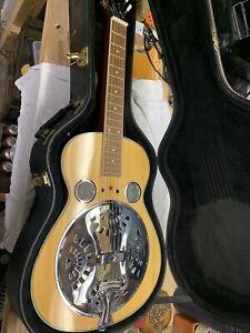 Regal Dobro Round Neck Resonator Vintage Brown With Case