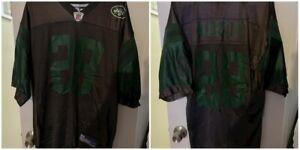 Curtis Martin #28 New York Jets NFL Reebok Black Jersey Size Large Rare Color