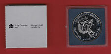 1988 BU Silver Canada One Dollar - Original Capsule + Outer Sleeve - Ironwork