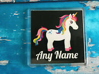 Personalised Unicorn Coaster - Standing - Add your name - Great gift / present