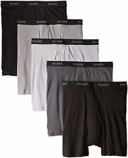 Hanes Men's 5-Pack Ultimate FreshIq Boxer w/ ComfortFlex Waistband Brief, Large