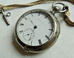 Early 18 Size Antique 1868 Waltham Appleton Tracy Co O/F Pocket Watch Model 1857