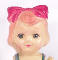 Little Girl Celluloid Doll Carnival Toy Prize 6in. Vintage Adorable #73 As Is