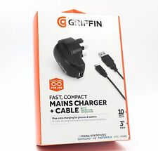 Griffin Samsung S5 S6 S7 Edge Note 4 Fast 2.1Amp Wall Charger & Micro-USB Cable