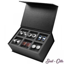 Gemelos en elegante caja de Regalo Acero Inoxidable Plata Colores Brillante