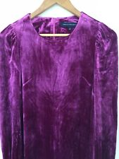 FRENCH CONNECTION PINK VELVET LONG SLEEVE DRESS UK SIZE 10