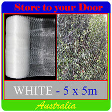 5x5m WHITE Anti Bird Netting, Plant and Fruit Tree Bird Netting
