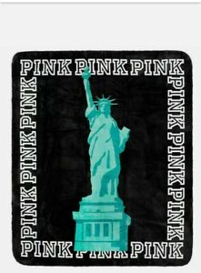 Victoria's Secret PINK New York Statue of Liberty Sherpa Blanket Limited edition