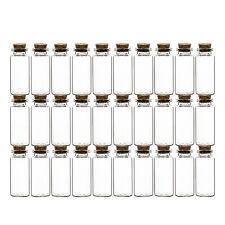 30er Set Mini Gewürzgläser mit Korken-Deckel 30ml klein Vorratsgläser Glas Dosen
