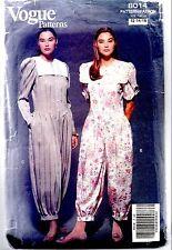 Vintage Vogue Sewing Pattern 8014 Button Front Dress Jumpsuit Basque Waistline U