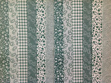 24 JELLY ROLL STRIPS 100% COTTON PATCHWORK FABRIC SAGE GREEN  22 INCH LONG