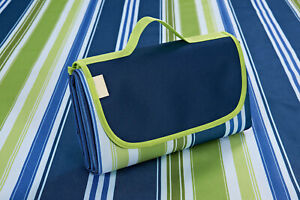 Picknickdecke Picknick Wasserabweisend Matte Strand Decken - Blau-Grün 195x200cm