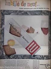 PUBLICITÉ 1957 VÉRITABLE PETIT-BEURRE LU HABILLÉ DE NEUF - ADVERTISING