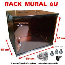 Armario RACK MURAL 6U 19 pulgadas y FONDO 450mm