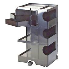 JOE COLOMBO BOBY TROLLEY STORAGE B33 BLACK B-LINE made in Italy