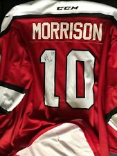 Vancouver Giants Game Used Autographed Vimy Ridge Memorial Jersey Brad Morrison