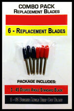 COMBO 45/60 -6 Standard Deep Cut Replacement Blades for Craft Cutting Machines,
