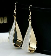 Silver &  Golden Drop earrings classy luxury earrings for women shiny sparkle