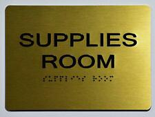 New listing Supplies Room Sign - Gold(Aluminium, Gold/Black,Size 5x7).(ref1820)