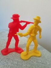 Vintage Tim Mee toys Cowboys 5 Five Inch Red Yellow