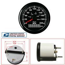 "Universal LED Backlight Round Car UTV 3-3/8"" 200MPH 300KM/H GPS Speedometer -USA"