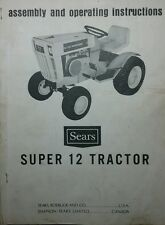 Sears SS-12 Garden Tractor & Engine Owner & Parts Manual (3 BOOKS) 52p 917.25510