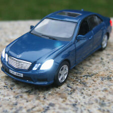 """Mercedes-Benz E63 Model Cars Sound&light 5"""" Alloy Diecast Collection&gifts Blue"""