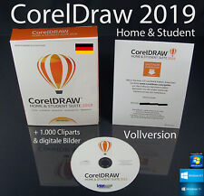 Corel Draw Home & Student Suite 2019 Vollversion Box + DVD, Lernvideos OVP NEU