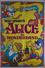 1974 Walt Disney's Alice in Wonderland 1-sheet Movie Poster Vintage Original VG+