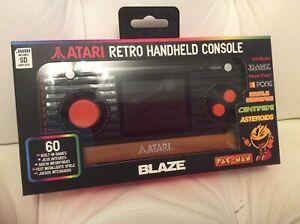 Atari blaze 60 games plus sd card games Retro Handheld Black Console