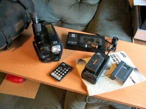 JVC VHS-C Camcorder GR-HF900 , tape , Case , Charger/psu , VHS Adapter , remote