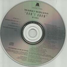MARIO WINANS w/ TRACKMASTERS & ALLURE Don't Know REMIX & INSTRUMENTAL PROMO CD