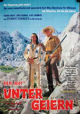 Karl May Unter Geiern Filmposter A1 Stewart Granger, Pierre Brice, Elke Sommer