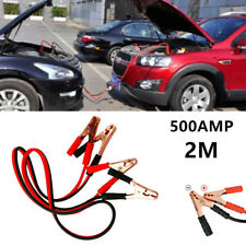 500 AMP 2M Auto Car SUV Emergency Jump Leads Booster Cable Battery Start Jumper