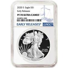 Presale - 2020-S Proof $1 American Silver Eagle NGC PF70UC Blue ER Label