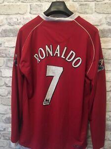 Manchester United Ronaldo 2007 Shirt. Mens Large