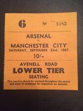 Ticket : Arsenal V Manchester City 23/09/1967