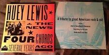 Huey Lewis News Four Chords 1994 (2) 2-Sided Promo Poster Photo Flats