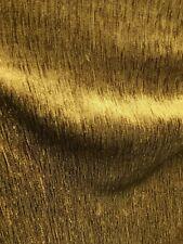 Dark Gold Solid Chenille Velvet Upholstery Drapery Fabric (54 in.) Sold Bty