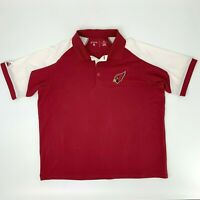 Arizona Cardinals Polo Shirt Men's Size XL Short Sleeve Collared NFL Football