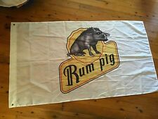 USED Man cave flag 5x3 foot bundy rum Bundaberg rum pool room wall hanging