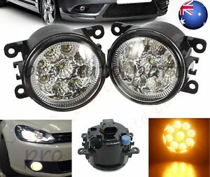 Pair LED Fog Light Lamp For Mitsubishi Lancer Grandis Challenger 380 I-Miev ASX
