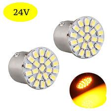 2 ampoules à LED   P21w / BA15s  24V  Jaune / Orange  pour Camion  Poids lourd