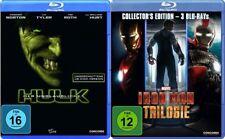 4 Blu-rays * DER UNGLAUBLICHE HULK + IRON MAN TRIOLOGIE IM SET # NEU OVP $
