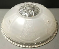 Vintage1930s Art Deco Flush Mount Light Ceiling Chandelier Frosted Lamp Shade(s)